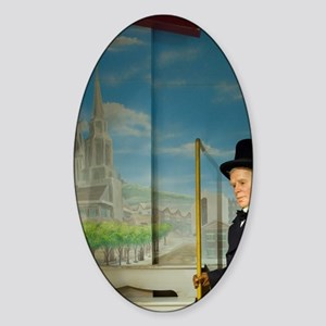 Interactive museum displaynd, Charl Sticker (Oval)