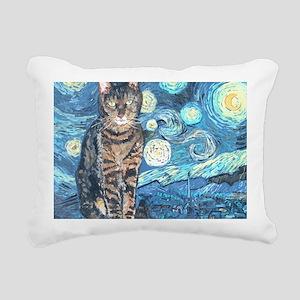 MouseLite StarryCat Rectangular Canvas Pillow