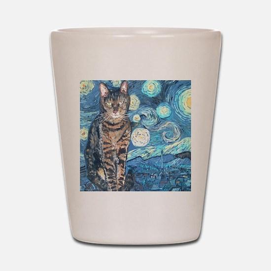 MouseLite StarryCat Shot Glass