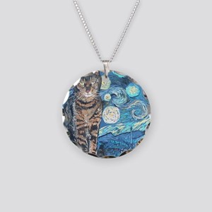 MouseLite StarryCat Necklace Circle Charm