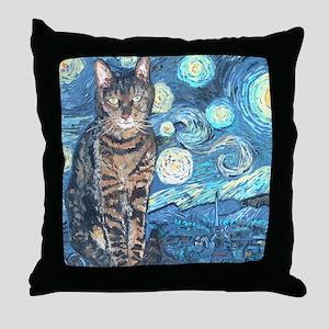 MouseLite StarryCat Throw Pillow