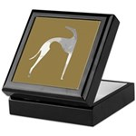 Hound Silhouette Mocha Keepsake Box