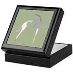 Hound Silhouette Sage Keepsake Box