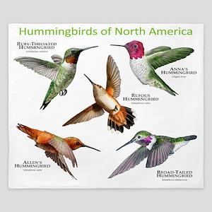 Hummingbirds of North America King Duvet