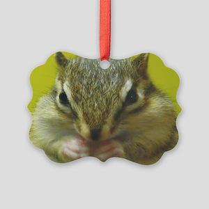 chipmunk long Picture Ornament