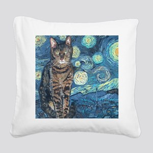 Mouse StarryCat Square Canvas Pillow
