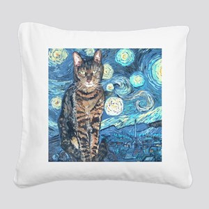 SQLite StarryCat Square Canvas Pillow