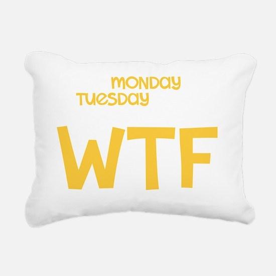 WTFDRK copy Rectangular Canvas Pillow