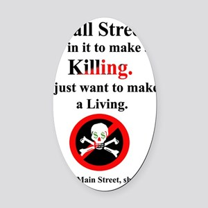 wall_street_local_white copy Oval Car Magnet
