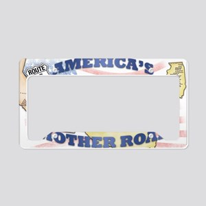Route 66 Mother Road Poster License Plate Holder