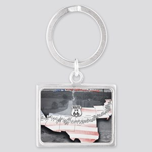 Route 66 Flag Poster Landscape Keychain