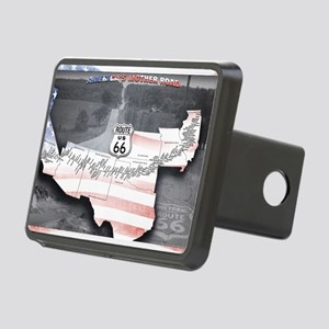 Route 66 Flag Poster Rectangular Hitch Cover