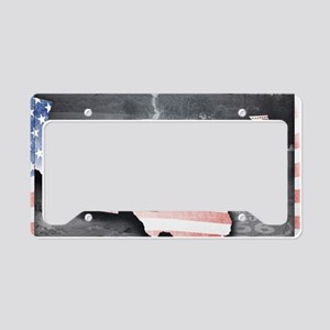 Route 66 Flag Poster License Plate Holder