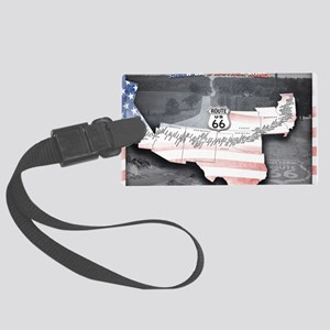 Route 66 Flag Poster Large Luggage Tag