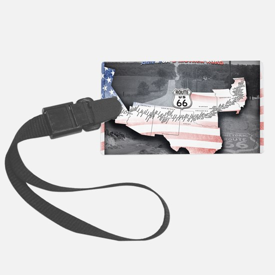 Route 66 Flag Poster Luggage Tag