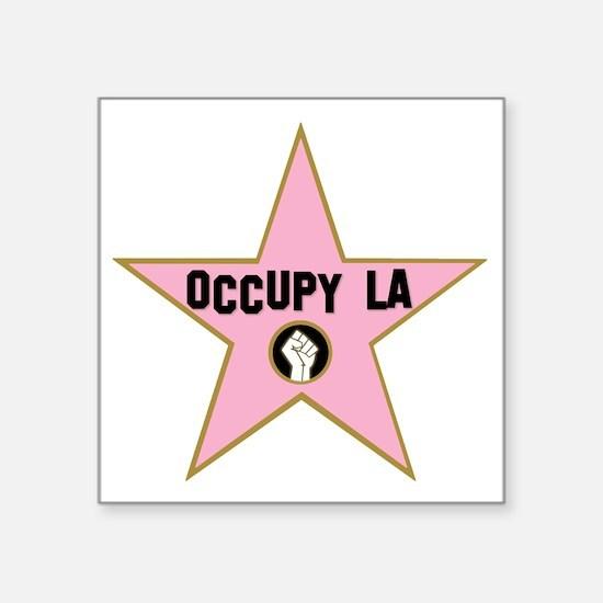 """Occupy La Los Angeles - All Square Sticker 3"""" x 3"""""""