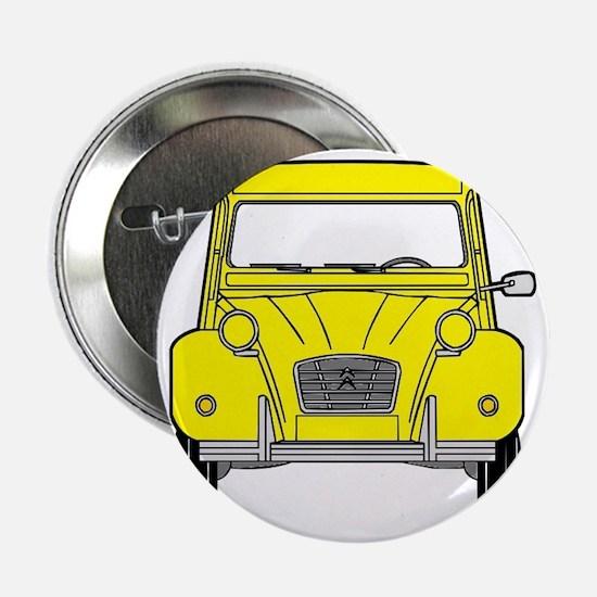 "Citroen 2CV front yellow 2.25"" Button"