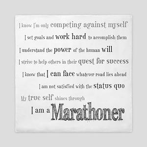 I Am a Marathoner Queen Duvet