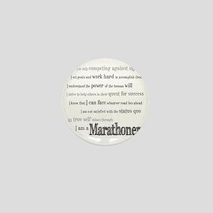 I Am a Marathoner Mini Button