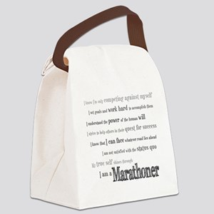 I Am a Marathoner Canvas Lunch Bag