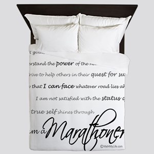 I Am a Marathoner - Script Queen Duvet