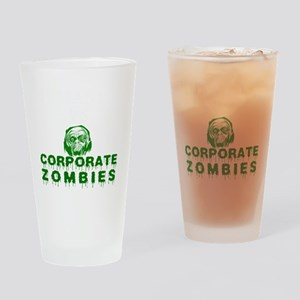Humanity vs. Corporate Zombies - Bl Drinking Glass