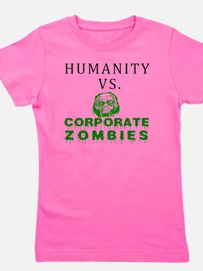 Humanity vs. Corporate Zombies - White Girl's Tee