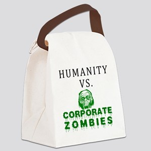 Humanity vs. Corporate Zombies -  Canvas Lunch Bag
