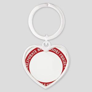 cMp circle, on black Heart Keychain