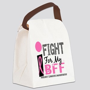 - I Fight For My BFF Breast Cance Canvas Lunch Bag