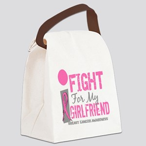 - I Fight For My Girlfriend Breas Canvas Lunch Bag