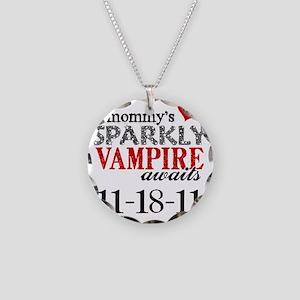 Vampire Awaits B Necklace Circle Charm