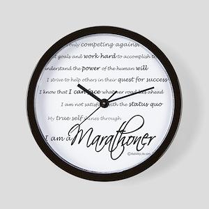 I Am a Marathoner - Script for light Wall Clock