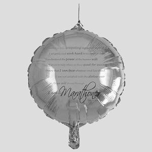 I Am a Marathoner - Script for light Mylar Balloon