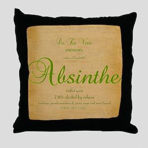AbsintheLabeliPad Case Throw Pillow