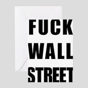 Fuck wall street greeting cards cafepress fwallstreet1blackclear greeting card m4hsunfo