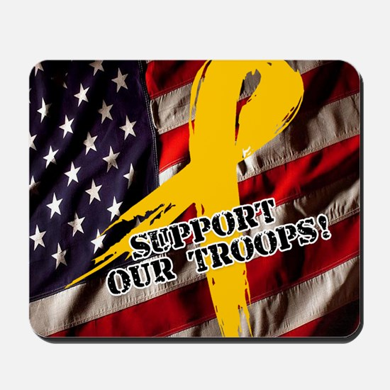 support troops button updates Mousepad