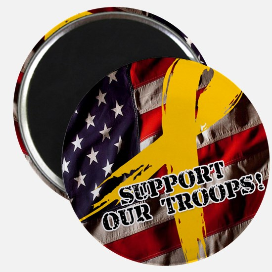 support troops button updates Magnet