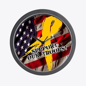 support troops button updates Wall Clock