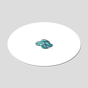betta_fish 20x12 Oval Wall Decal