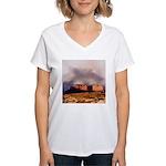 Monument Valley Storm Women's V-Neck T-Shirt