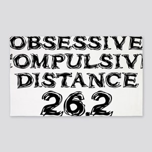 Obsessive Compulsive Distance 26.2 3'x5' Area Rug