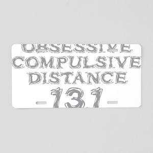 Obsessive Compulsive Distan Aluminum License Plate