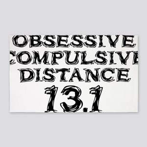 Obsessive Compulsive Distance 13.1 3'x5' Area Rug