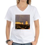 Monument Valley Storm Wall Women's V-Neck T-Shirt