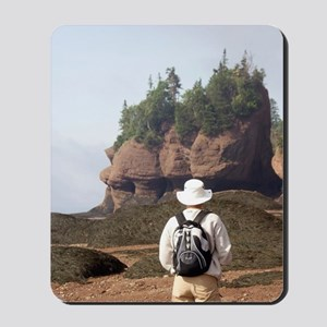 Bay of Fundy. Hopewell Rocks at low tide Mousepad