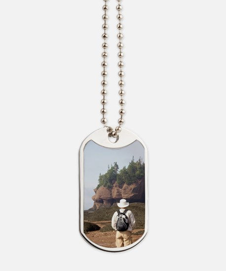 Bay of Fundy. Hopewell Rocks at low tide  Dog Tags