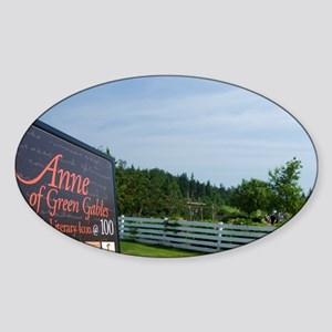 Anne of Green Gables. Green Gables  Sticker (Oval)