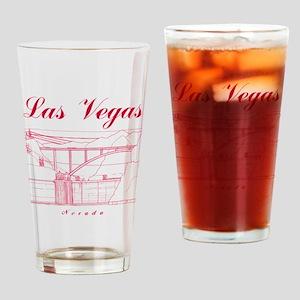 LasVegas_10x10_HooverDam_Red Drinking Glass