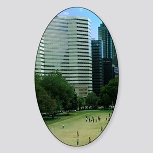 Montreal. Downtown campus of McGill Sticker (Oval)